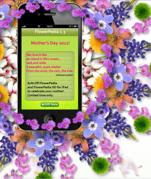 FlowerPedia Mother's Day promotion